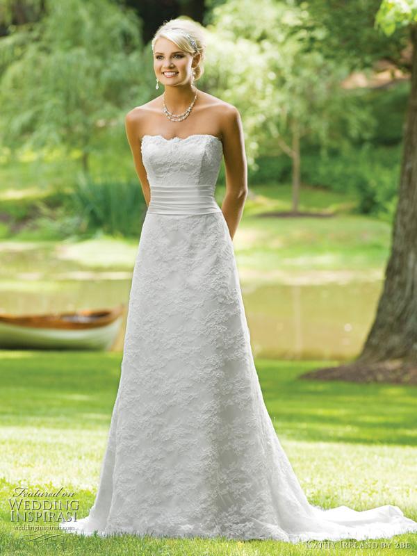 slim a line wedding dress   Wedding
