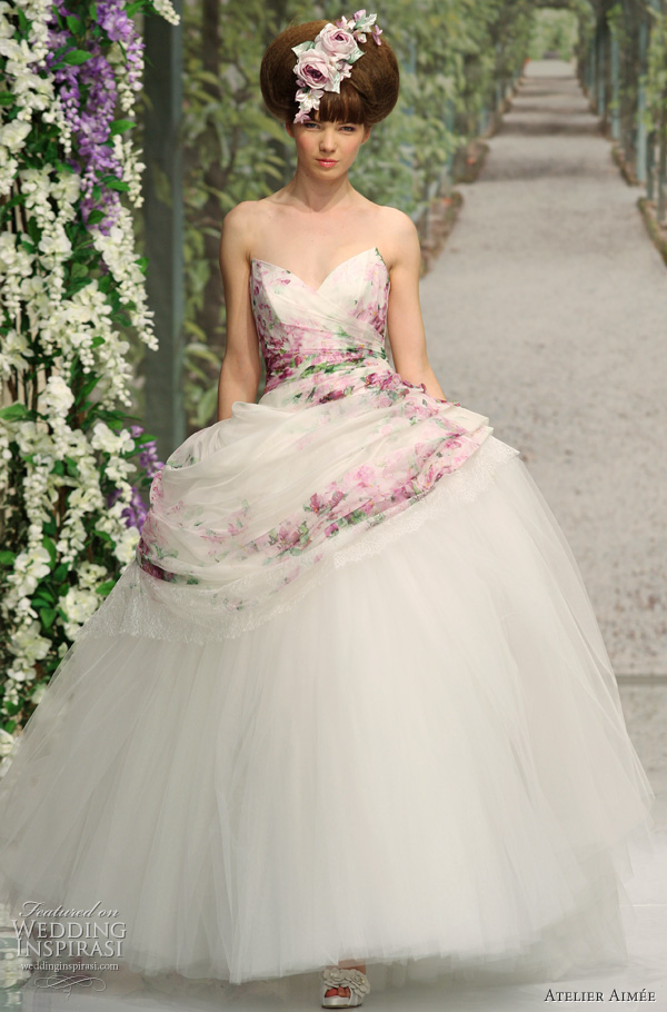 2011 ball gown wedding dress by Aimee Atelier, italian bridal collection