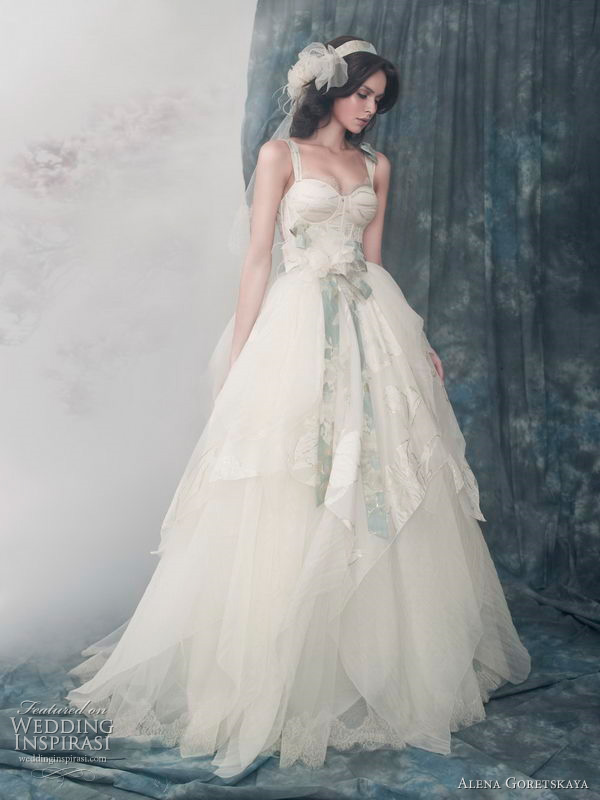 Alena Goretskaya 2011 wedding dress collection -  Alexander gown with silk organza corset