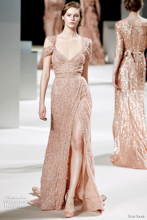 2011 couture Elie Saab collection - bridal gown inspiration from the runway of paris