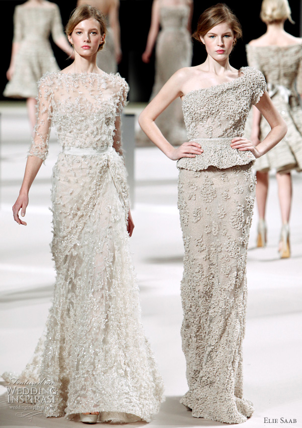 Elie Saab bridal gown inspiration from the runway, Spring/Summer 2011 haute couture collection