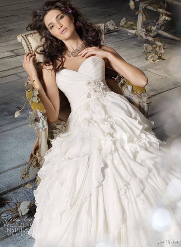 Jim Hjelm Spring 2011 Wedding Dresses Wedding Inspirasi