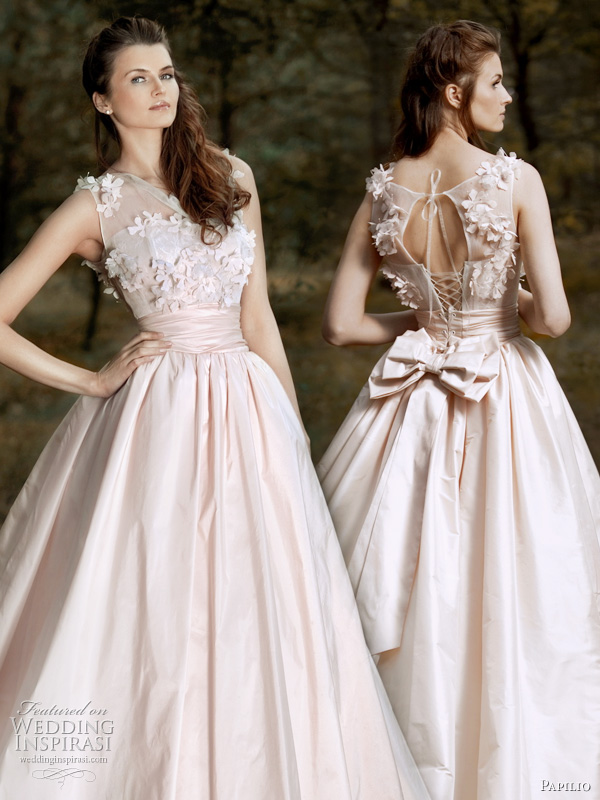 Wedding dresses with floral applique : Papilio wedding dresses inspirasi