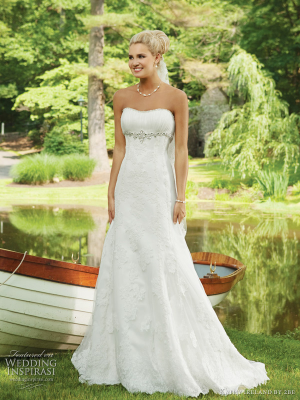 Spring 2011 wedding dresses from kathy ireland by 2be for Simple wedding dress for outdoor wedding