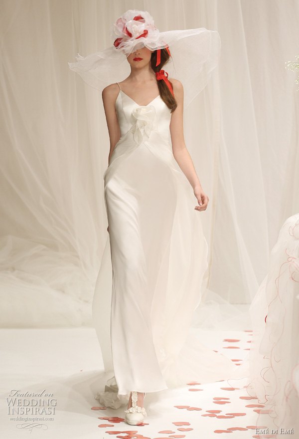 Emé di Emé 2011 bridal collection - white wedding dress