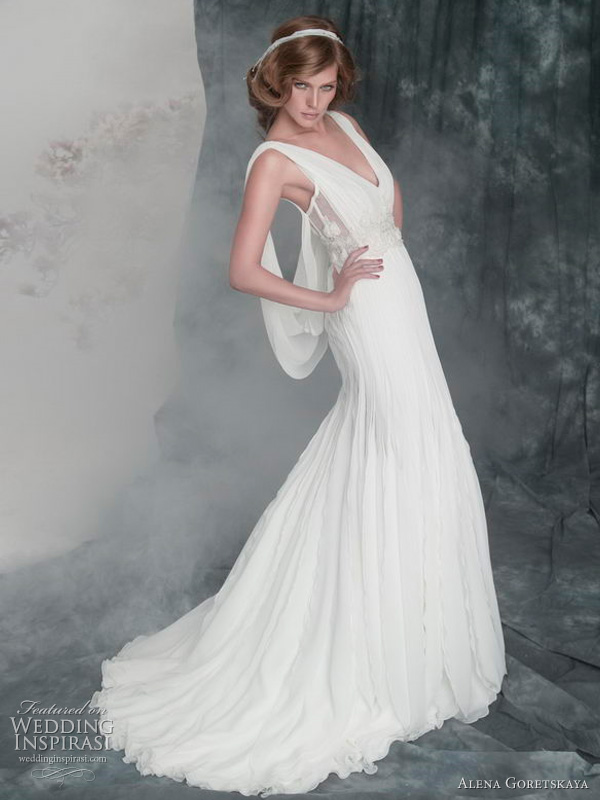 2011 wedding gowns by Alena Goretskaya Alicja Grecian style wedding dress