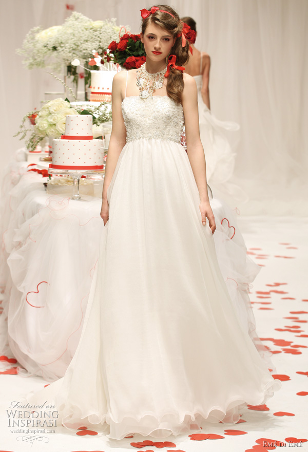 Emé di Emé 2011 bridal collection - white wedding gown