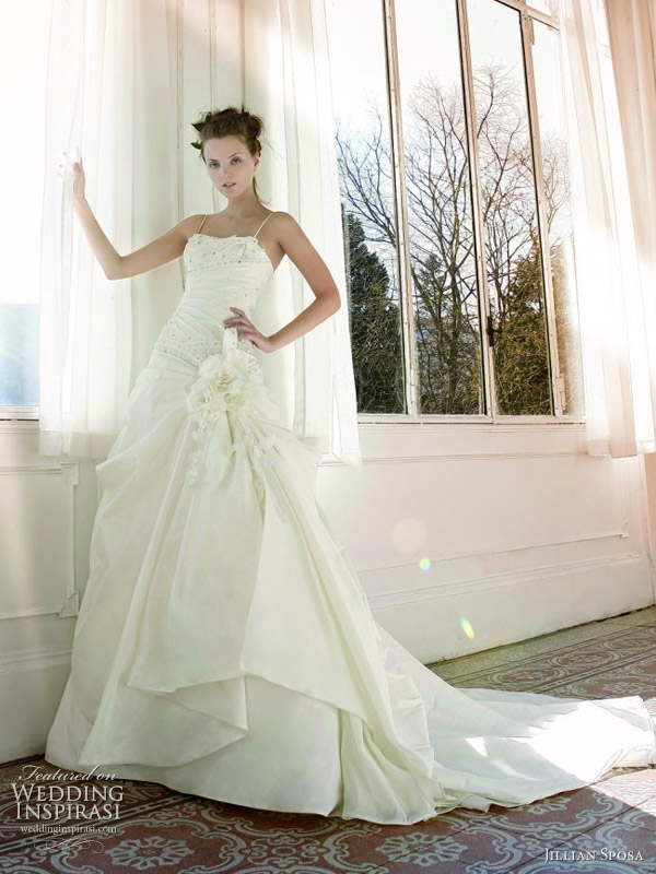 wedding dresses with straps 2011. A-line wedding dress with