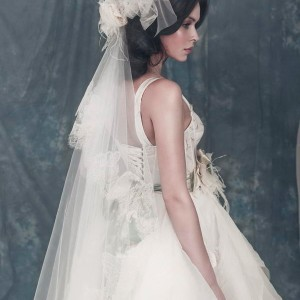 Alexander wedding dress (closeup) from Alena Goretskaya 2011 bridal collection