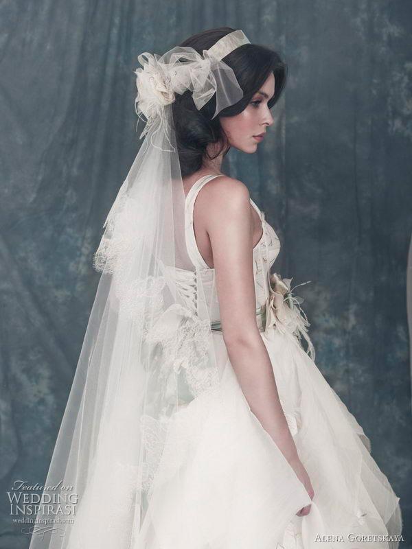 Alexander wedding dress (closeup) from Alena Goretskaya 2011 bridal collection