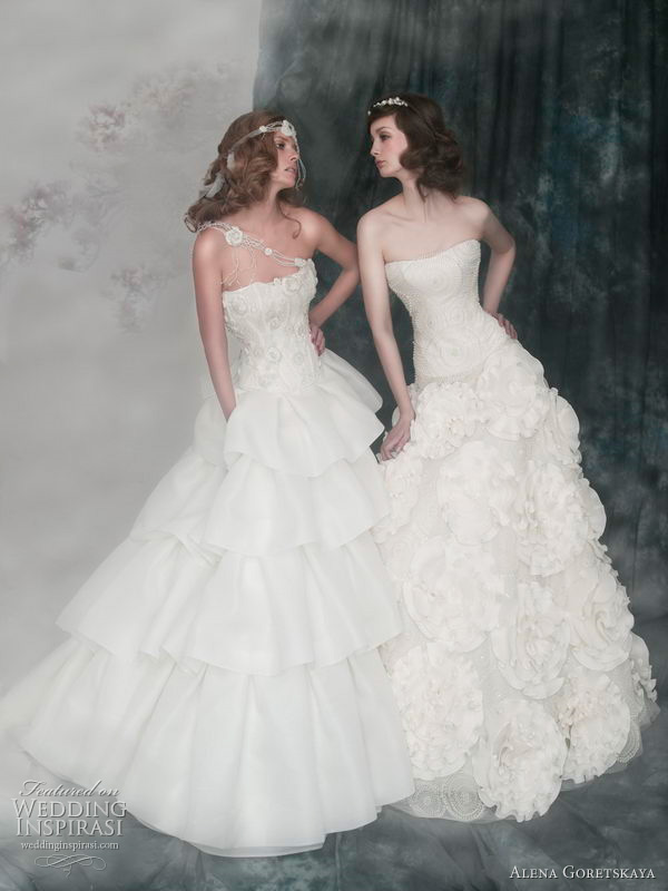 2011 wedding gowns from Alena Goretskaya bridal collection - August and Arcadia