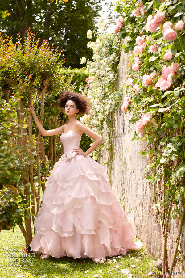 atelier aimee pink wedding dress