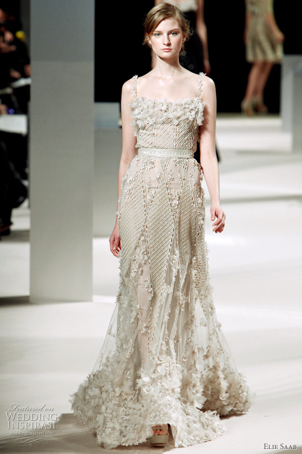 Elie Saab Bridal Spring 2011 couture wedding dress inspiration