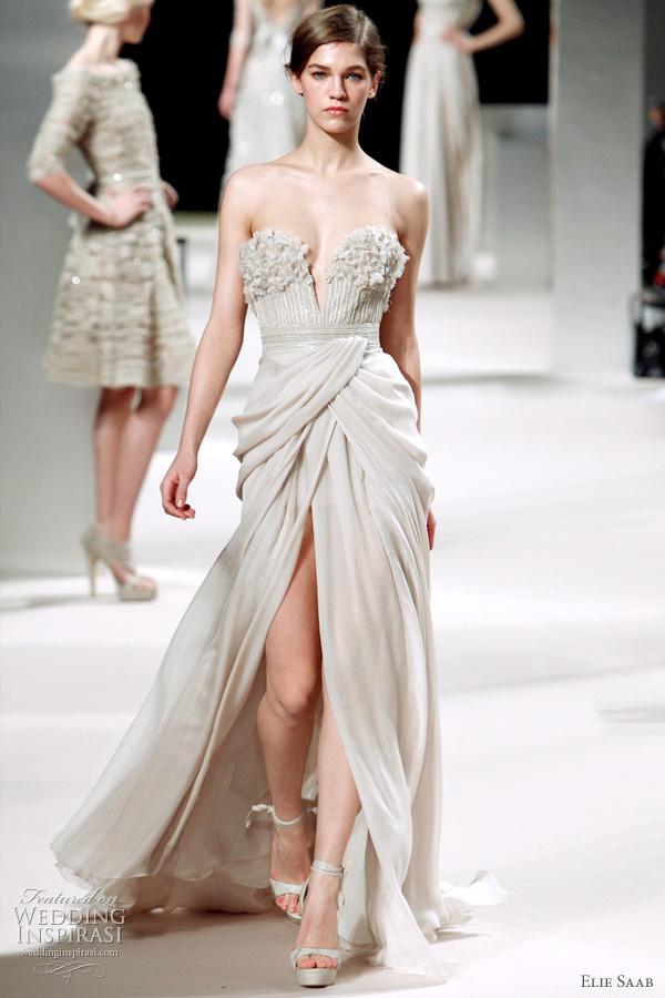 Elie Saab Spring 2011 couture - strapless wedding dress inspiration from the runway