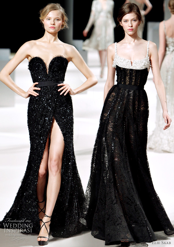 Elie Saab Spring/Summer 2011 haute couture - black evening dresses