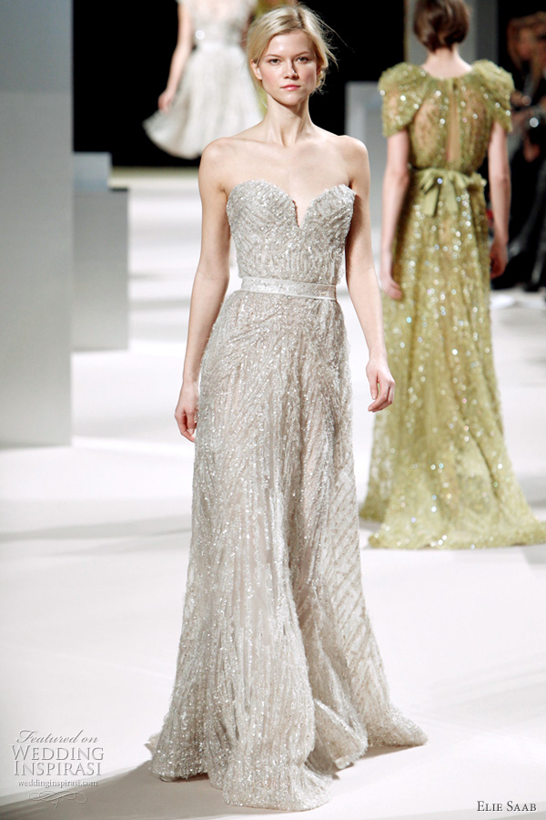 Elie Saab Spring Summer 2011 couture collection - wedding dress or bridal gown inspiratin from the runway