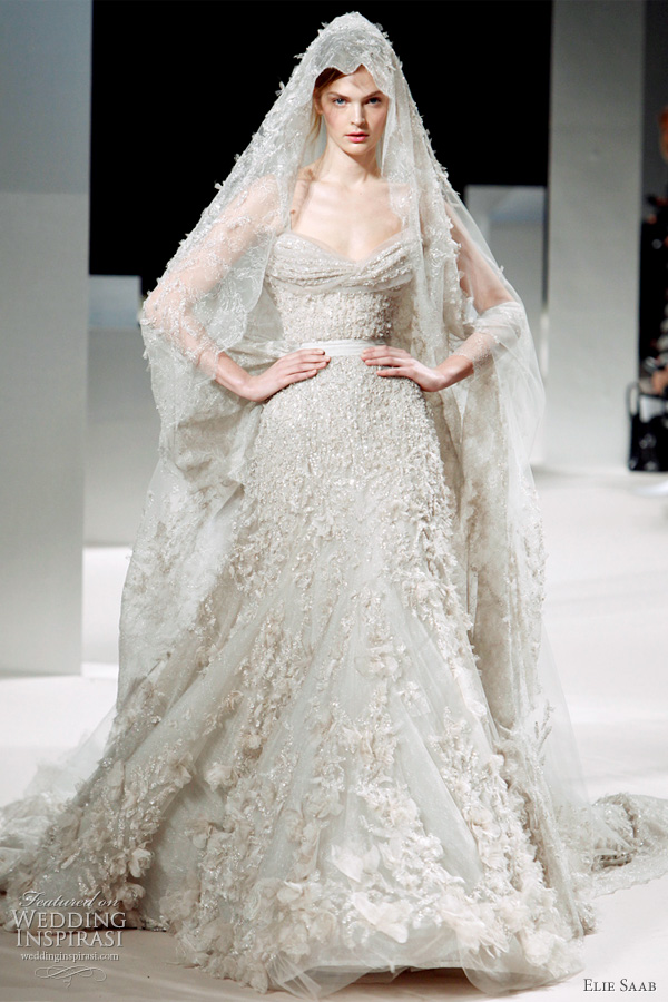 Elie Saab bridal 2011 - haute couture wedding dress with veil