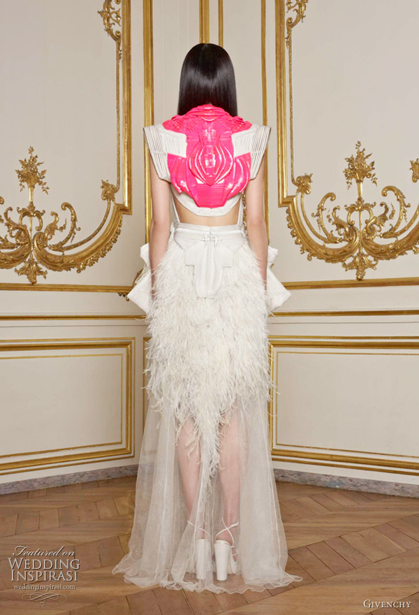 Givenchy Spring/Summer 2011 Couture collection - back view neon pink detail on dress