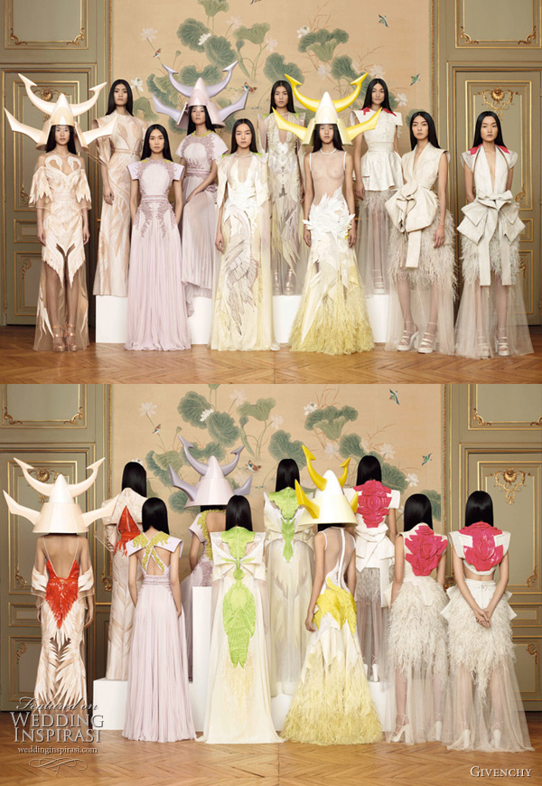 Givenchy Spring 2011 Couture collection -  Featuring a cast consisting entirely of East Asian models, Qin Shu Pei,  Ming Xi,  Tao Okamoto, Hye Park, Sun Fei Fei, Liu Wen, Jiang Xiao Yi, Ai Tominaga, So Young Kang, Du Juan.