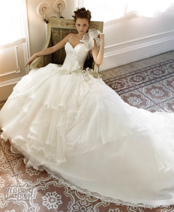 Jillian Sposa 2011 bridal collection wedding dress - white ball gown