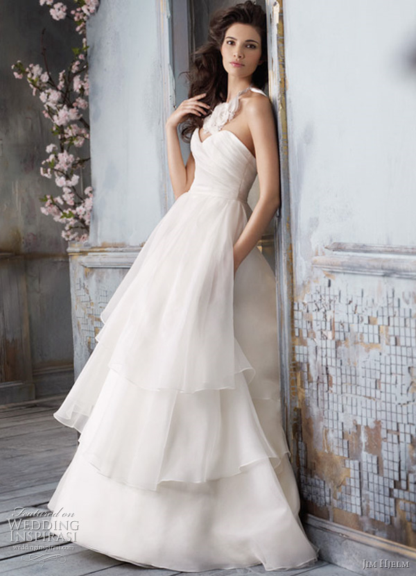 Jim hjelm spring 2011 wedding dresses wedding inspirasi for Silk organza wedding dress