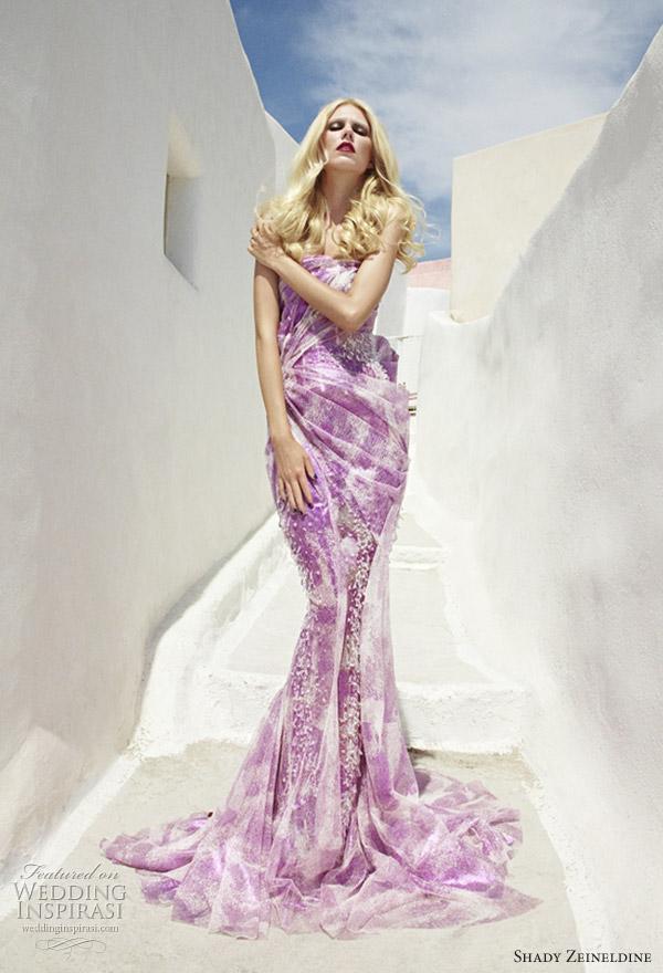 Shady Zeineldine purple wedding dress and couture gown