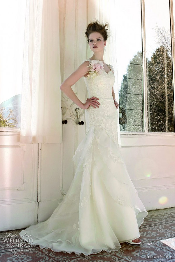 2011 wedding dress with straps by Jillian Sposa bridal collection Italy