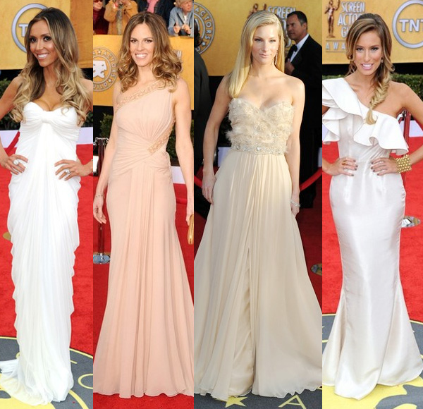 Adore Hilary Swank's dress! Looks perfect on her! Screen actors guild awards