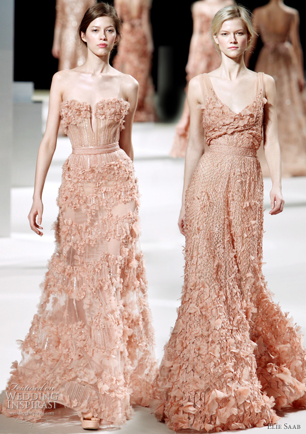 Spring 2011 Elie Saab Haute couture - color bridal gowns inspiration