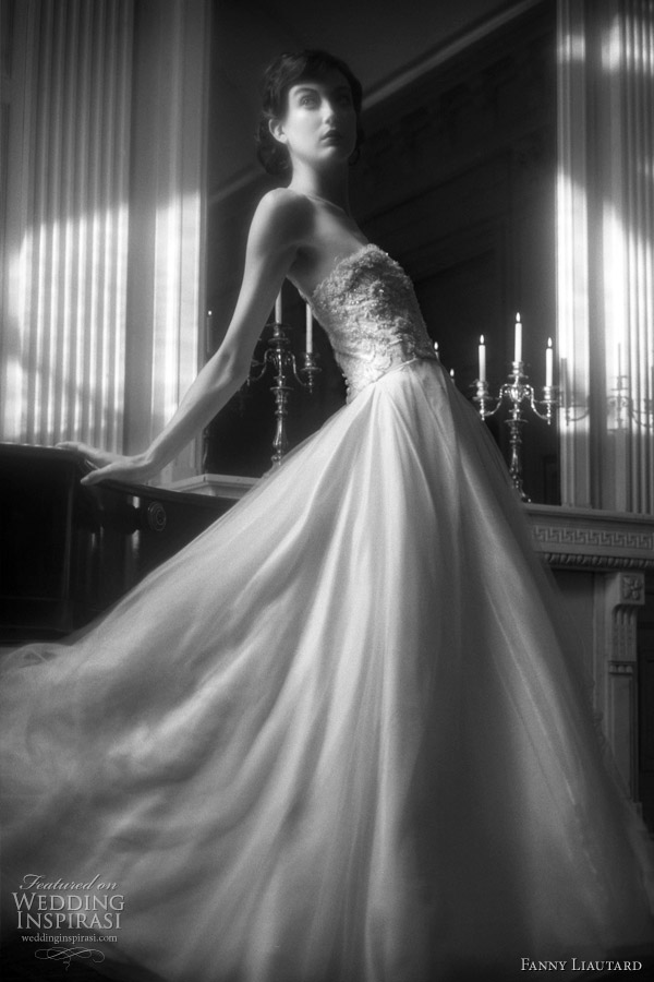 Fanny Liautard 2011 bridal collection - strapless wedding dress