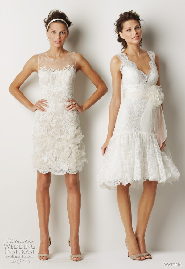Watters Fall 2011 bridal collection short wedding dresses - Albury and Melbourne