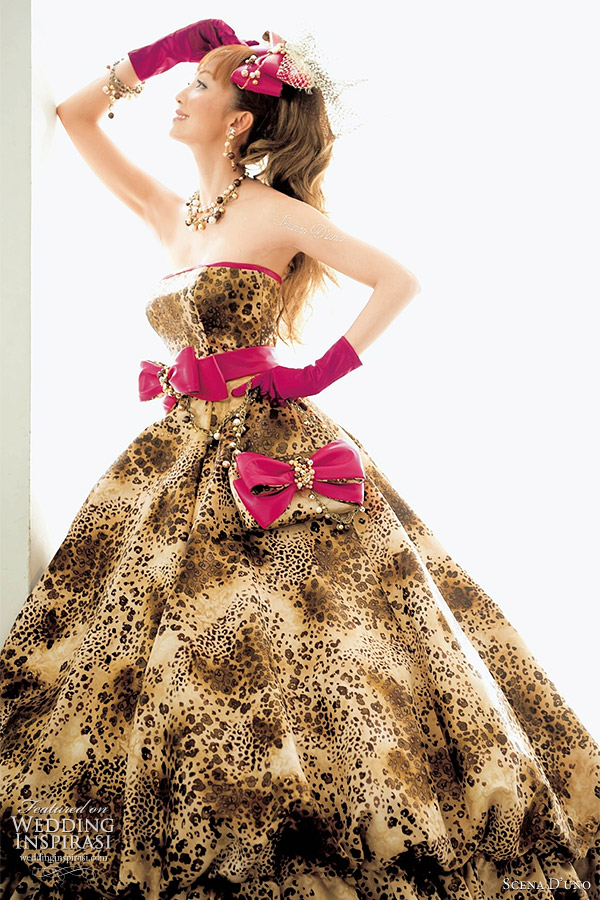 Animal print wedding dress by Scena D'Uno