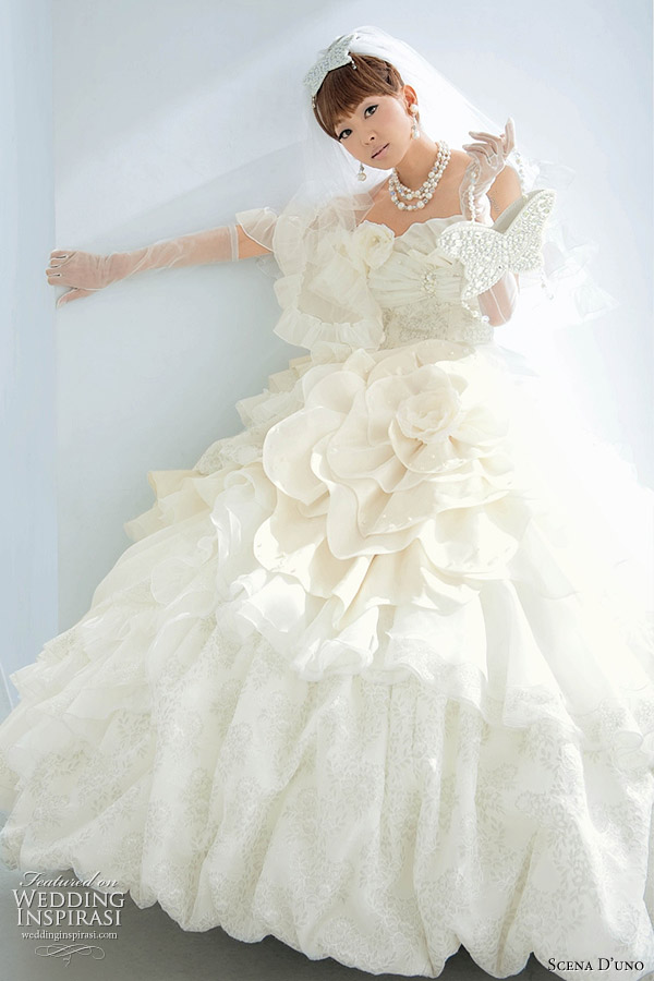 White Western Wedding Dress By Anese Brand Scena D Uno Designed Kanda