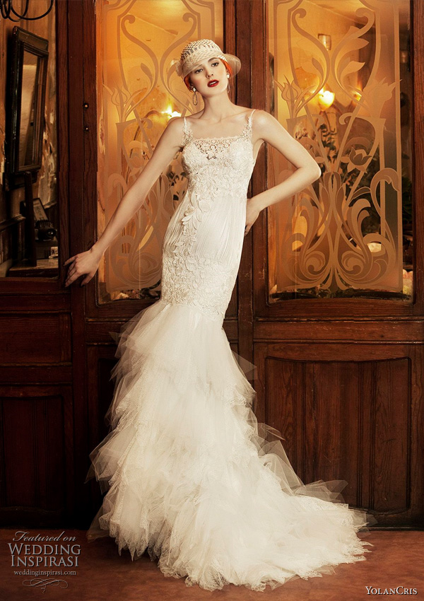 1920s inspired wedding dress by YolanCris from the 2011 Revival Vintage collection - Lisboa