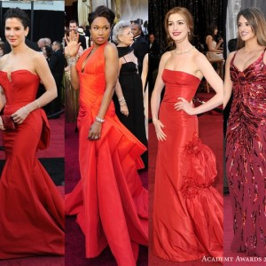 2011 oscars red carpet dresses