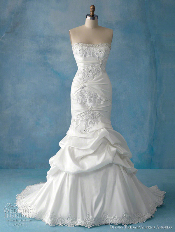 Disney fairy tale weddings by alfred angelo princess for Princess mermaid wedding dresses