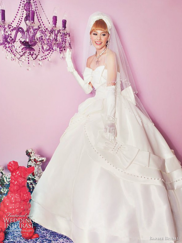 Barbie 2011 bridal collection wedding dress