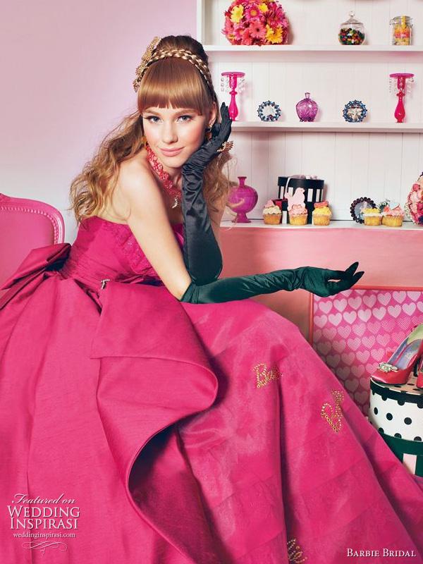 Barbie bridal 2011 - pink wedding dress