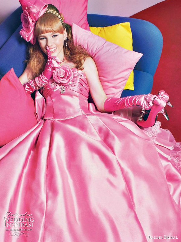 Barbie pink wedding dress 2011 collection