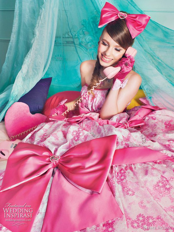 Pink Barbie wedding dress - bridal gown from 2011 collection