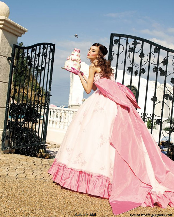 Pink Wedding Dresses Princess : Sweet wedding dresses from barbie bridal inspirasi