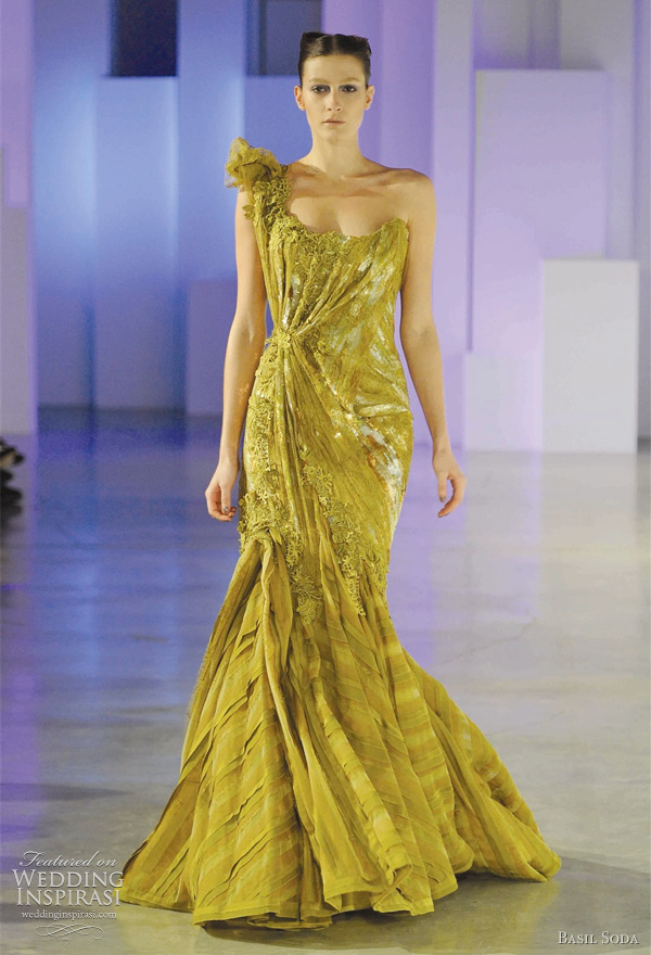 Basil Soda Spring 2011 couture collection - color wedding dress inspiration from the runway