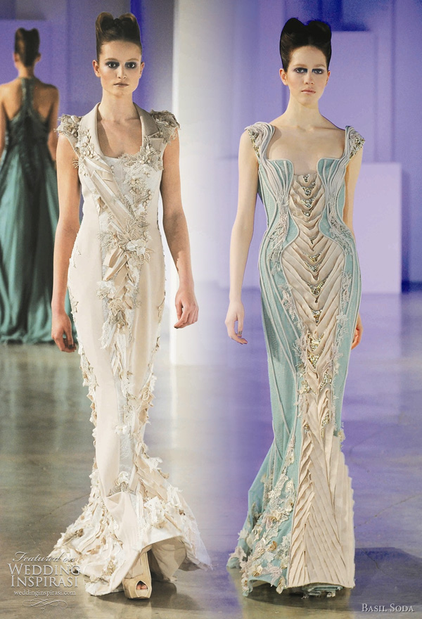 Basil Soda couture Spring/Summer 2011 collection - wedding dress inspiration from the runway
