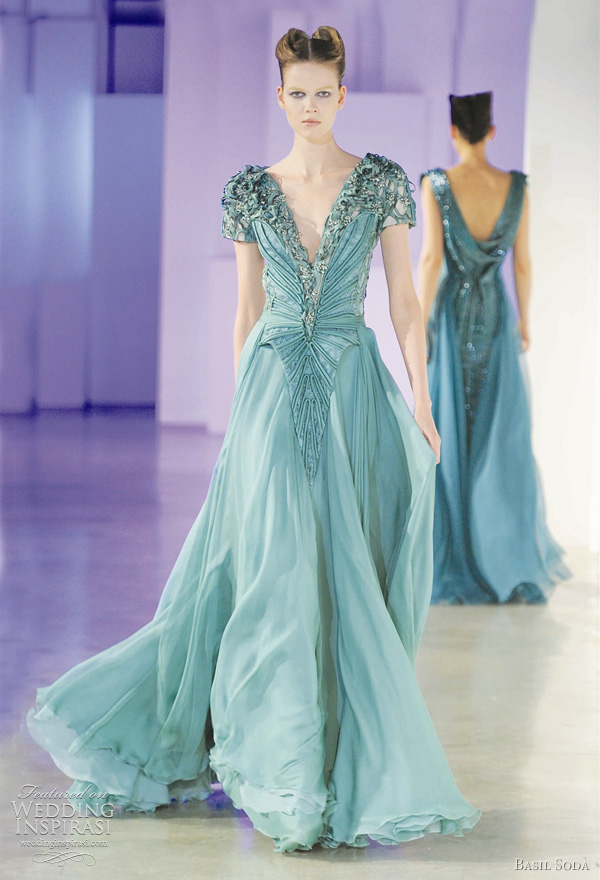 Basil Soda spring/summer 2011 haute coutre collection - color wedding dress inspiration