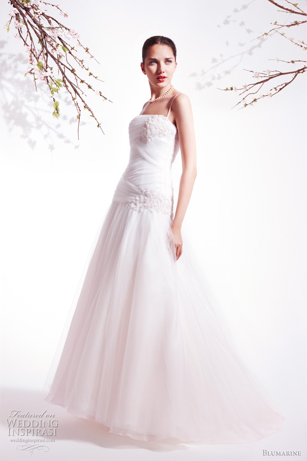 Blumarine bridal Spring Summer 2011 collection - strapless wedding dress