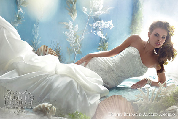Disney Fairy Tale Weddings by Alfred Angelo for Disney Bridal - Princess Ariel wedding dress