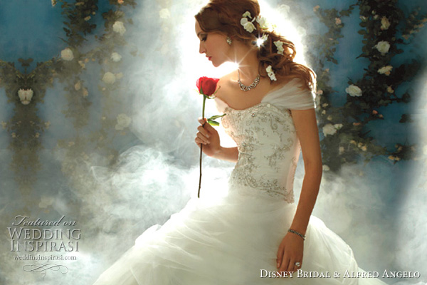 Disney Fairy Tale Weddings by Alfred Angelo for Disney Bridal - Princess Belle, Beauty and the Beast wedding dress
