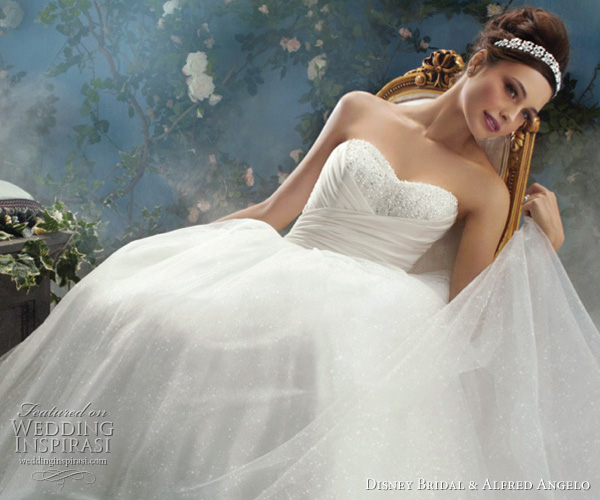 Disney Fairy Tale Weddings Cinderella wedding dress by Alfred Angelo for