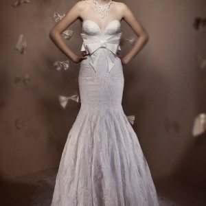 Elihav Sasson strapless wedding dress 2011