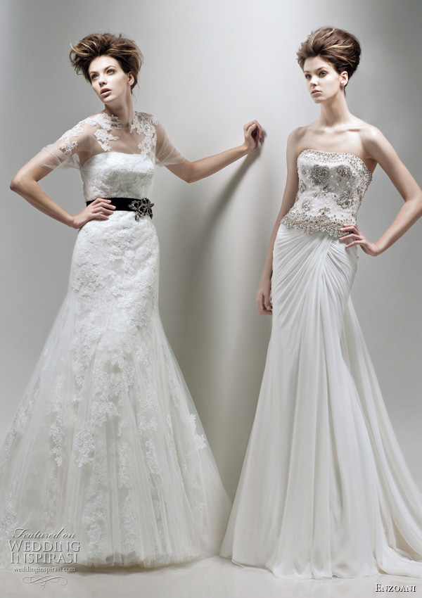 Enzoani 2011 bridal collection - Felisha and Fluer A sheath wedding dresses